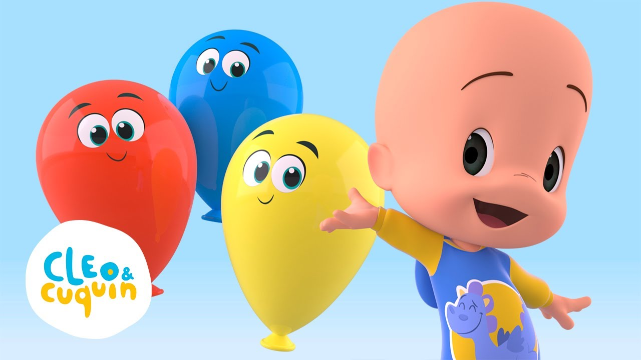 Download Learn the colors and more with Cuquin and his balloons | Cleo and Cuquin
