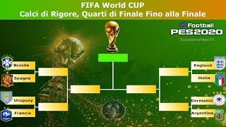 PES 2020 • FIFA World CUP • Calci di Rigore, Quarti di Finale Fino alla Finale