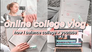 Online College Day In My Life Vlog! How I Balance College + Youtube, Mini Fall Haul // Isabella LoRe