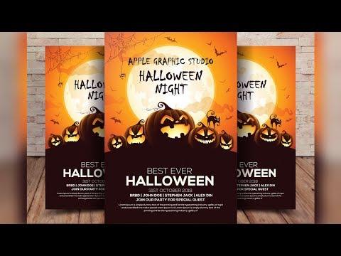 Halloween Flyer Design Tutorial In Photoshop