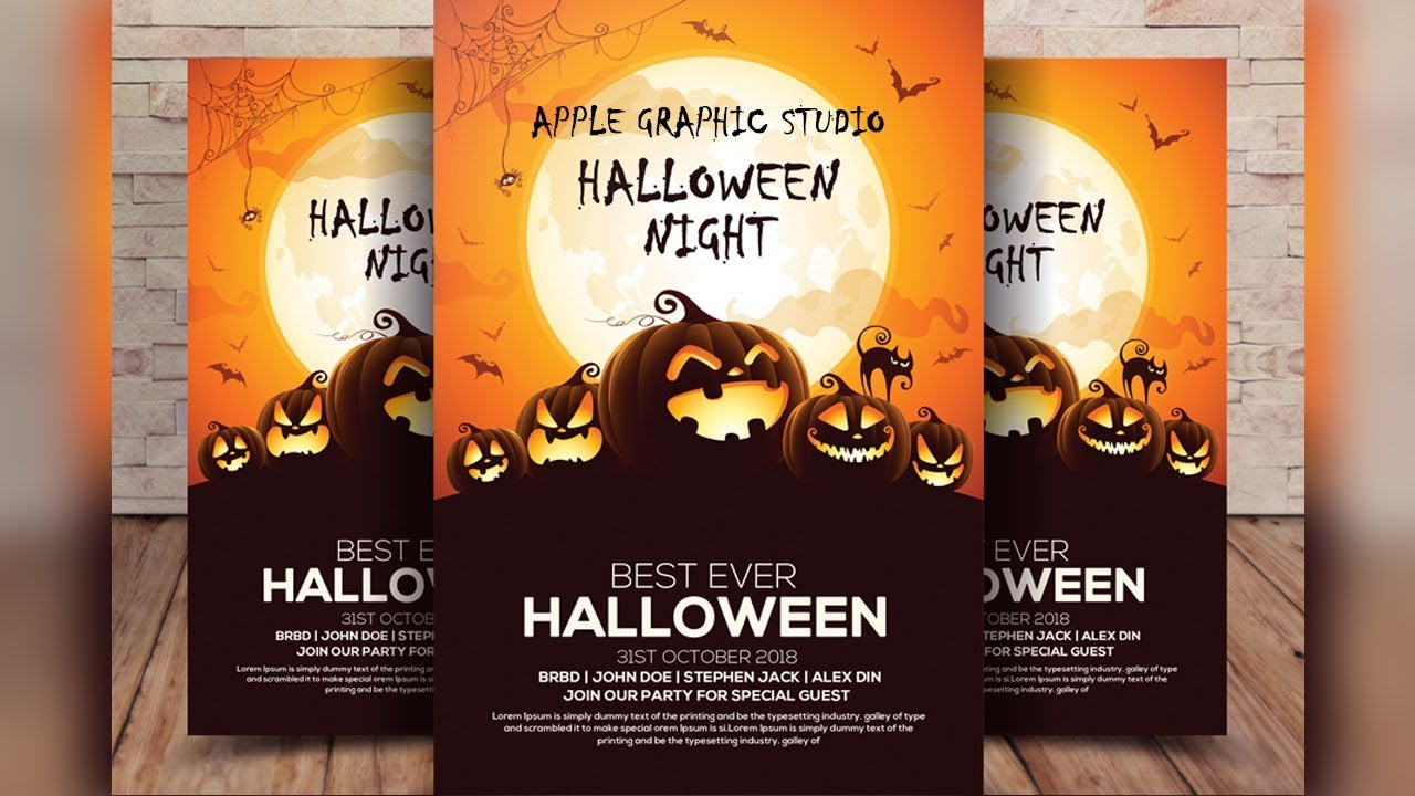Halloween Flyer Design Tutorial In Photoshop