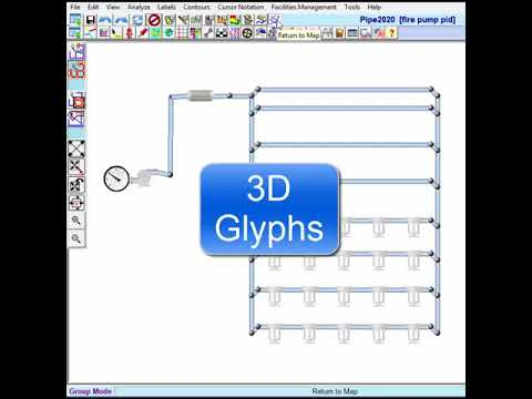 PID Piping and Instrumentation Diagram Node Glyphs and 3D Glyphs (no