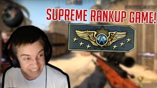 SUPREME RANKUP!!! - CS:GO COMPETITIVE #28