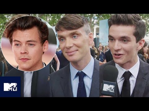 DUNKIRK Cast React To Harry Styles's Hair At London Premiere 💇😂 | MTV MOVIES
