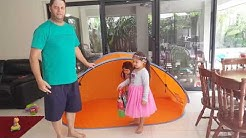 Sun Shelter pop up and how to fold it down (Aldi)