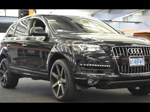 2012 audi q7 3 0 quattro tdi premium plus nav pano 3rd row tow for sale in milwaukie or youtube. Black Bedroom Furniture Sets. Home Design Ideas