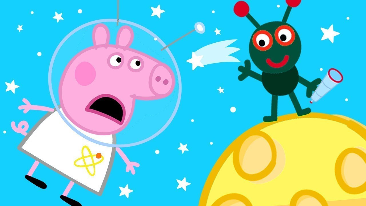 Peppa Pig Official Channel | Peppa Pig on the Moon! ?50th Anniversary of Moon Walk Special