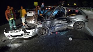 Vehicle Safety Bar absorbed crash impact during collision