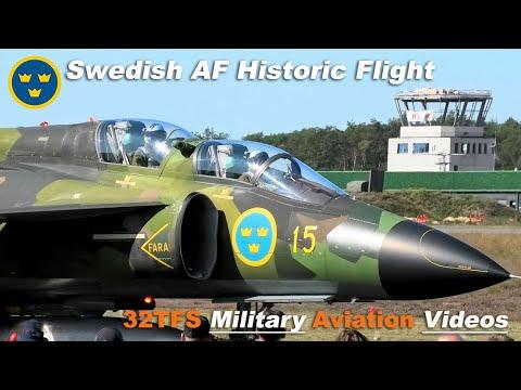 SAAB SK-37 VIGGEN Swedish AF Historic Flight At Spottersday Kleine Brogel AB (EBBL)
