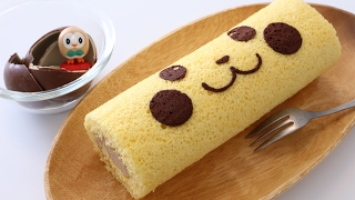 Pikachu Surprise Egg Chocolate Swiss Roll Cake Recipe
