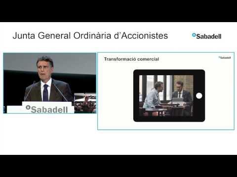 Jaume Guardiola, CEO de Banc Sabadell a la Junta General d'Accionistes 2017 - BANCO SABADELL