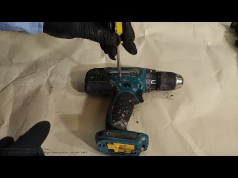 How to disassemble Makita electric battery drill