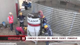 Comenzó pilotaje del nuevo Puente Pumarejo