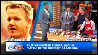 GOOD NEWS: FILIPINO INSPIRED BURGER, WAGI SA BATTLE OF THE BURGERS SA AMERIKA!