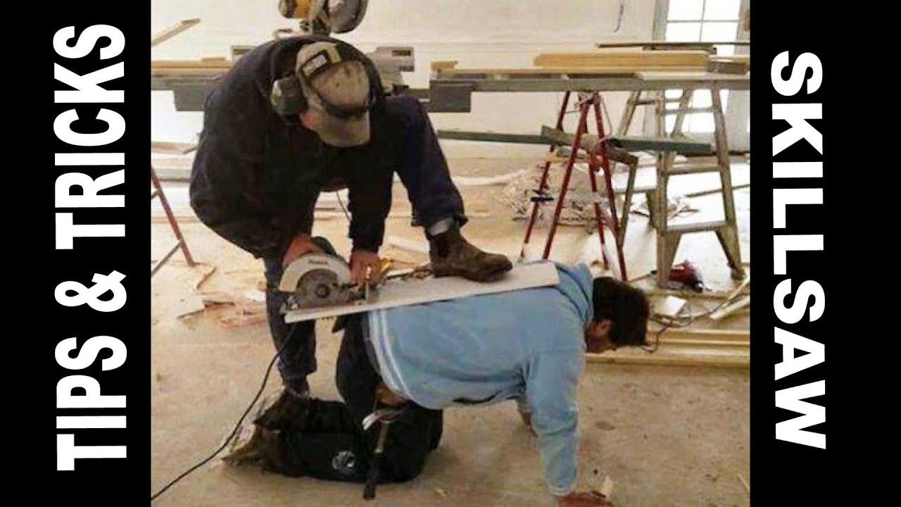 Use Skillsaw Safely Long Cuts Plywood Youtube