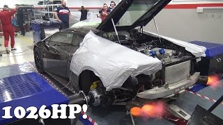 1026HP Lamborghini Huracán LP900 GoshaTurboTech Dyno Run!