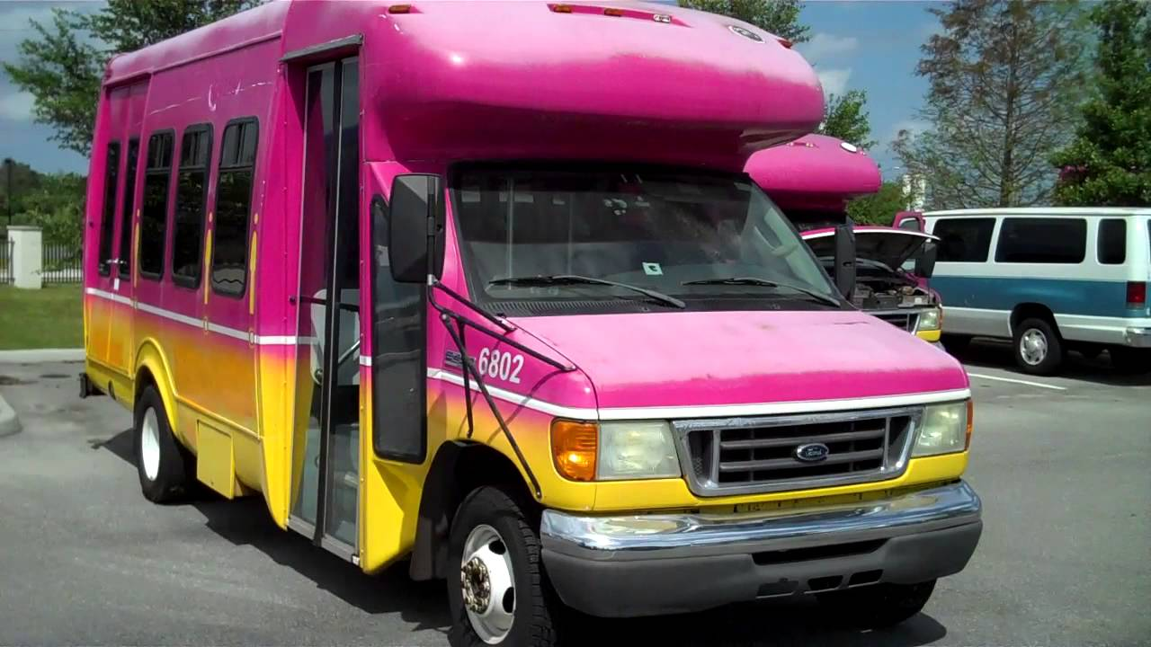 6802 2007 ford econoline e450 v10 16 passenger shuttle bus [ 1280 x 720 Pixel ]