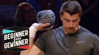Kugelstoßen: David Storl und die 20 Kilo Kugel | Teil 2 | Beginner gegen Gewinner | ProSieben