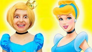 Is it Princess Cinderella's Birthday Party Today?  Kids Pretend Play Dress Up & Making a Cake