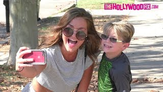 Erika Costell Shows Love To Her Fans While Arriving To The Team 10 House In Her New Jeep Wrangler