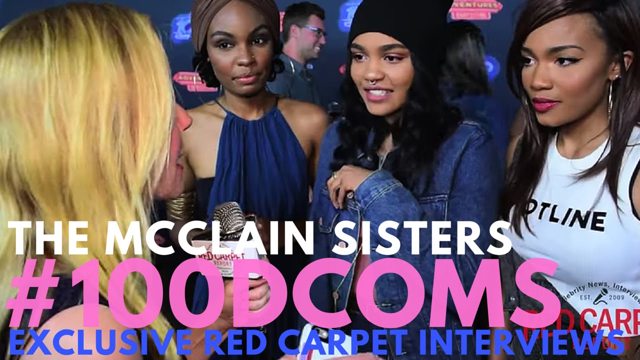 The Mcclain Sisters Interviewed At Vip Screening For Adventures In Babysitting 100dcoms Youtube