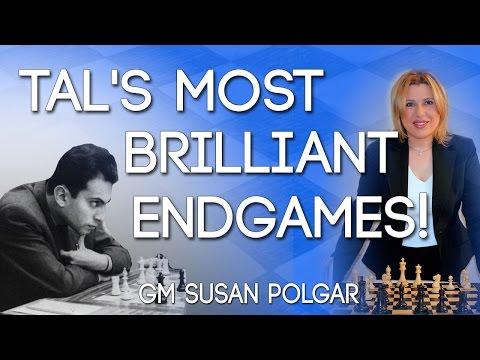 Mikhail Tal's Most Brilliant Endgames! - GM SUSAN POLGAR
