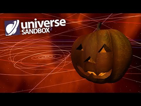 Halloween Pumpkin Takes Over The Solar System, Universe Sandbox ² Halloween Special |