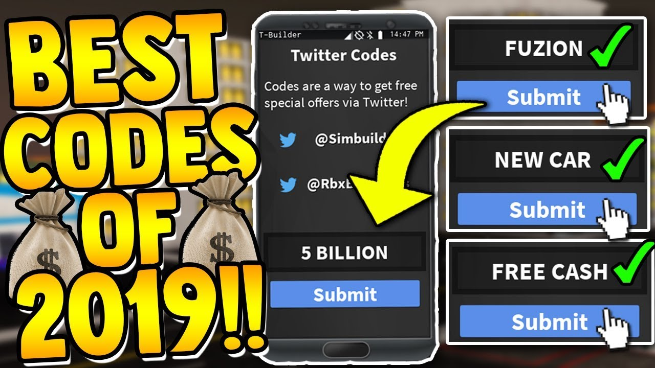 Roblox Vehicle Simulator Money Codes 2019 All Working Codes New