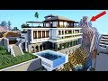 Minecraft: How To Build a MODERN Mansion / Modern Cliff/Mountain house! 2020