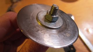How to Sharpen a Rotary Cutter Blade. (Olfa)  Using a DRILL.