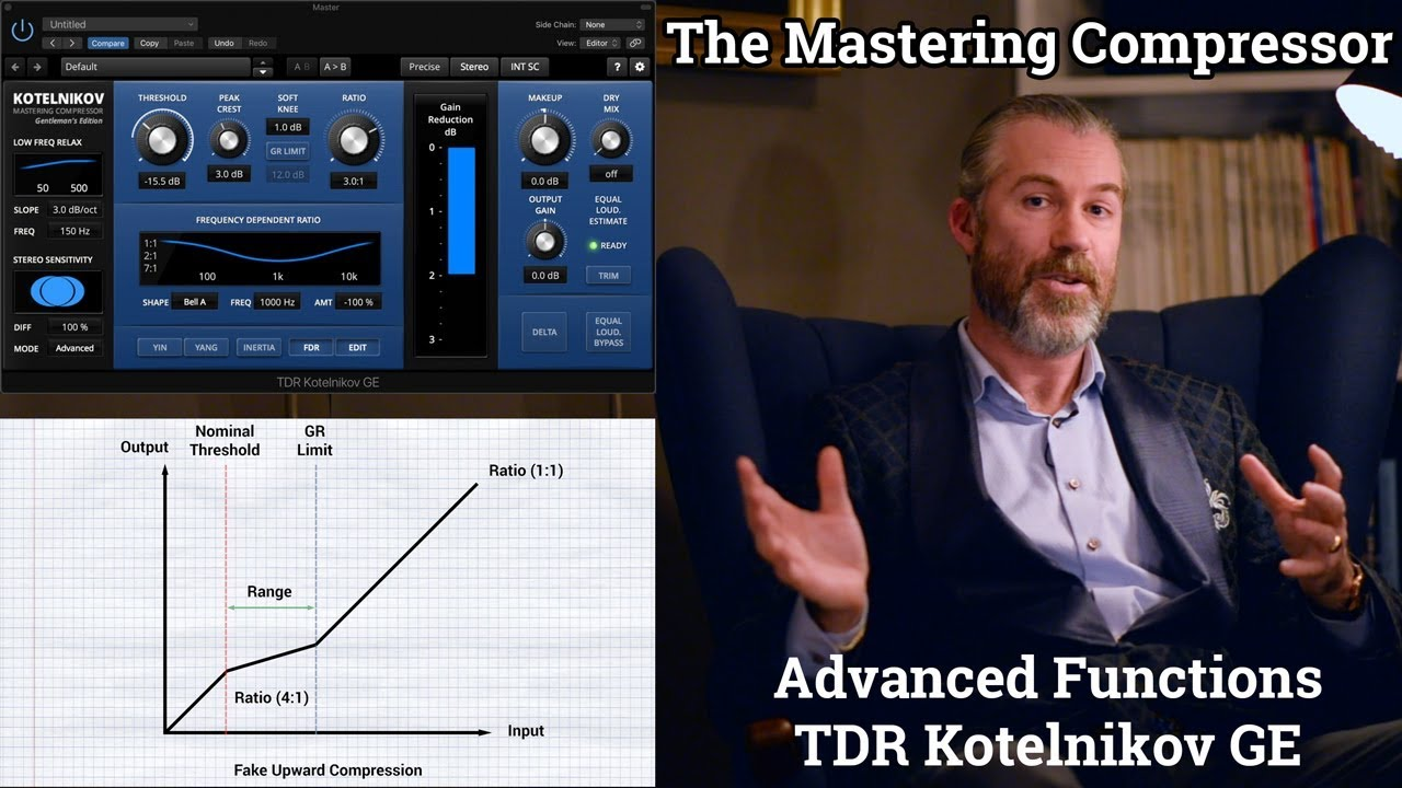 The Mastering Compressor - Advanced Functions - TDR Kotelnikov Gentleman's Edition