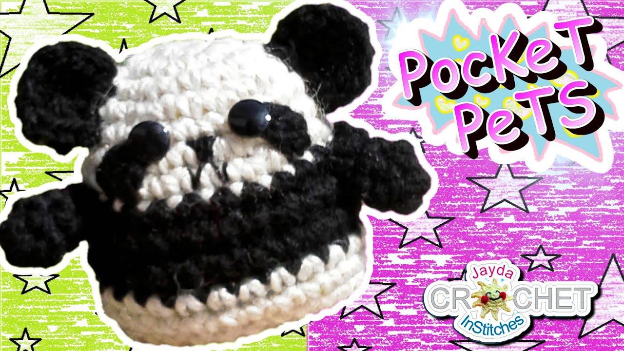 Crochet Panda Pattern - Jayda\'s Pocket Pets! - YouTube