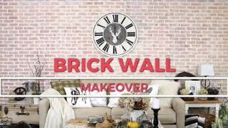 Easy Farmhouse Brick Wall Created Only Using A Stencil!