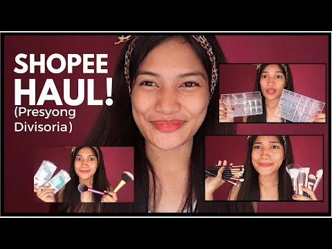 SHOPEE HAUL! (Murang MakeupOrganizer,Brush,Sponge &More!) | Philippines
