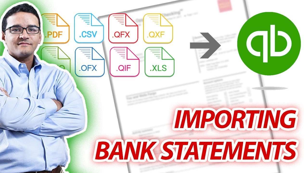 Import PDF Bank Statement into CSV or  QBO (Bank Feeds