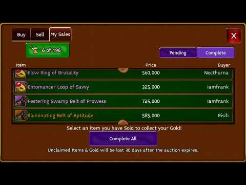 Arcane Legends My Profit From GL Items And More Merching Advise