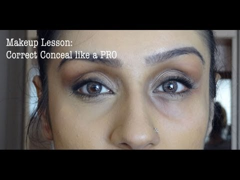 Makeup Lesson Under Eyes Correcting & Concealing