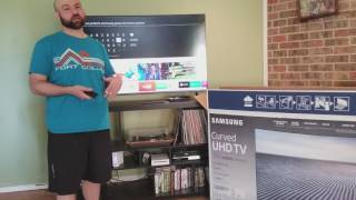 """Review: Samsung 55"""" Curved 4K Ultra HD LED LCD Smart TV 2017 Model (Best Value I Could Find)"""