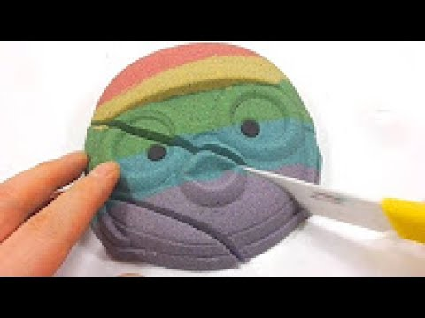 DIY How to Make Pororo Colors Kinetic Sand Cake Learn Colors Slime Icecream1