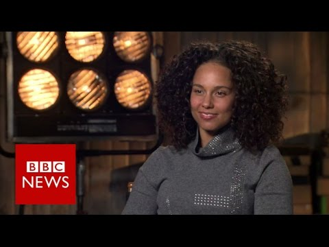 Alicia Keys on make-up, sexism and Trump - BBC News