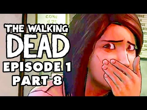 The Walking Dead Game - Episode 1, Part 8 - Pharmacy Escape! (Gameplay Walkthrough)