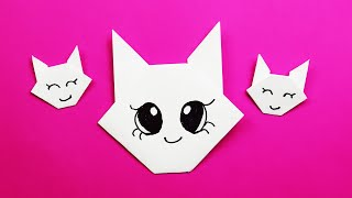 як зробити з паперу особа кішки
