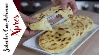 Arepas rellenas de queso - #SabadosconadrianaXpres