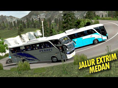 Beda Sopir Punya Skill Dengan Tidak - Bus PT Rapi Jalur Ekstrim Euro Truck Simulator 2