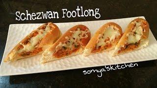 Schezwan  Footlong Recipe By Somyaskitchen/quick n easy snacks recipe#306