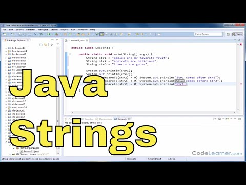 Java Tutorial 11 - Comparing Two Strings