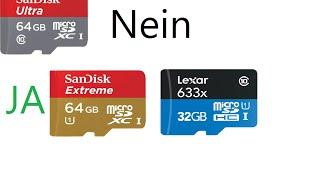 GoPro Hero4 Black Welche Speicherkarte sollte gekauft werden. Bildfehler