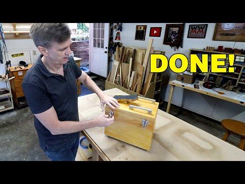 Finishing up the shoeshine box, finally!