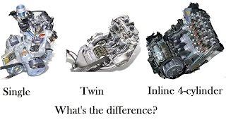 Одно- двух- и четырех цилиндровый мотор. В чем разница?