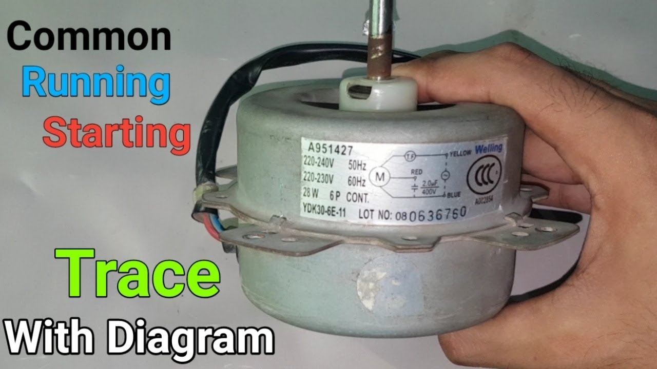 How do you replace the fan motor in a window ac unit? Fan Motor Trace All Connections Common Running Starting With Diagram In Urdu Hindi Youtube